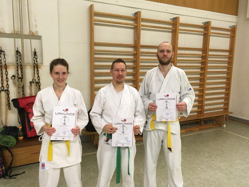 Prüfungen im Karatedo. Mühen wurden belohnt.